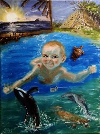 Baby, Underwater, Nirvana, Miami Sea Aquarium, Miami South Beach, Caribbean Cruise, Belize, Yucatan, Caymans, Gran Turk, Orca, Manatee, Dolphins