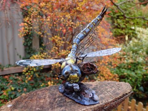 Dragonfly, Hunting, Fly, Meal, Super Sculpey