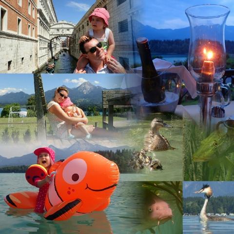 Faaker See, Drobollach, Villach, Kärnten, Seehotel, Südsee, Österreich, Mittagskogel, Enten, Hecht, Haubentaucher, Karpfen, Dinner, Venezia, Italia, Romantik