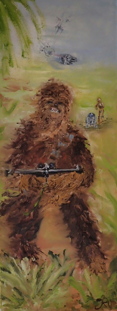 Star Wars, Chewbacca, Wookie, R2-D2, C-3PO, Millennium Falcon, X-Wing, Rebellion, The Force