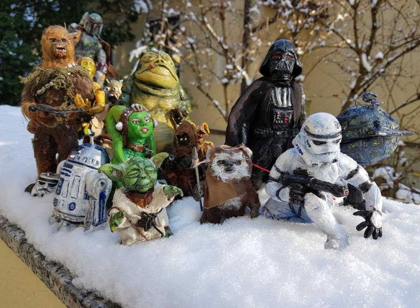 Star Wars, Darth Vader, Chewbacca, C-3PO, R2-D2, Yoda, Stormtrooper