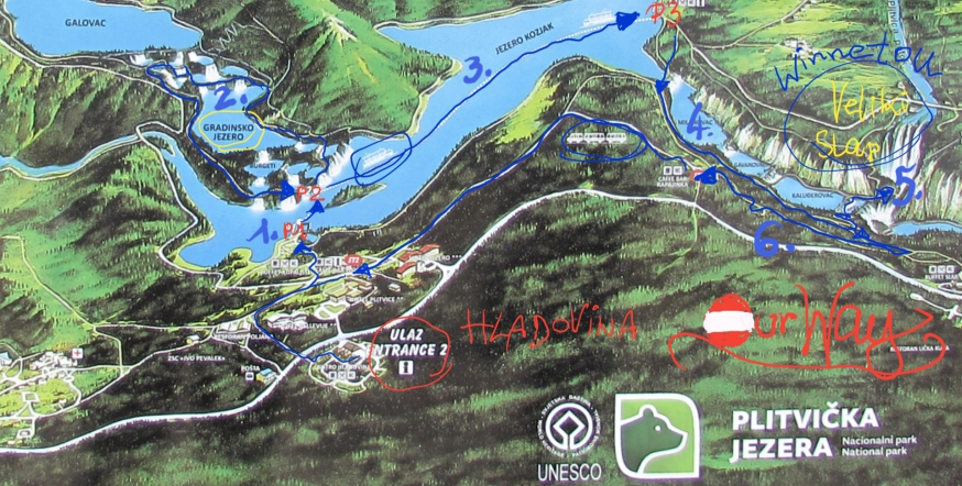 Plitvicer Seen, Plitvička Jezera, Weg, Route, Nationalpark,  UNESCO, Kroatien