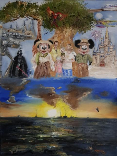 Mickey, Disney, Orlando, Star Wars, Avatar, Cinderella, Barbados,  Hummingsbirds, Turtles, Corona, Künstler gegen Corona, SARS CoV-2