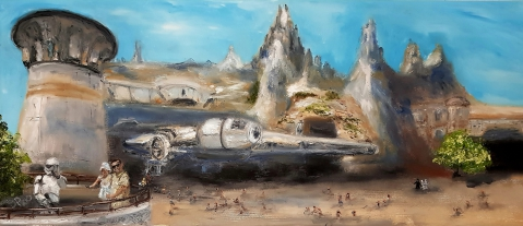 Star Wars, Disney World, Millennium Falcon, Stormtrooper, Chewbacca