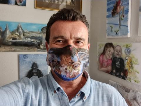 Ich, Maske, COVID, Künstler, Arzt, Homepage