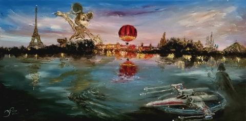 Disneyland, Paris, Mickey, Disney Village, Panoramagique, Ballon, Starport, Vader, X-Wing, Hyperspace Mountain, Thunder Mountain